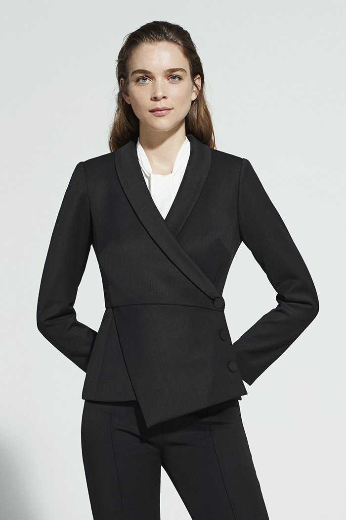 EC1 Asymmetric Jacket Black