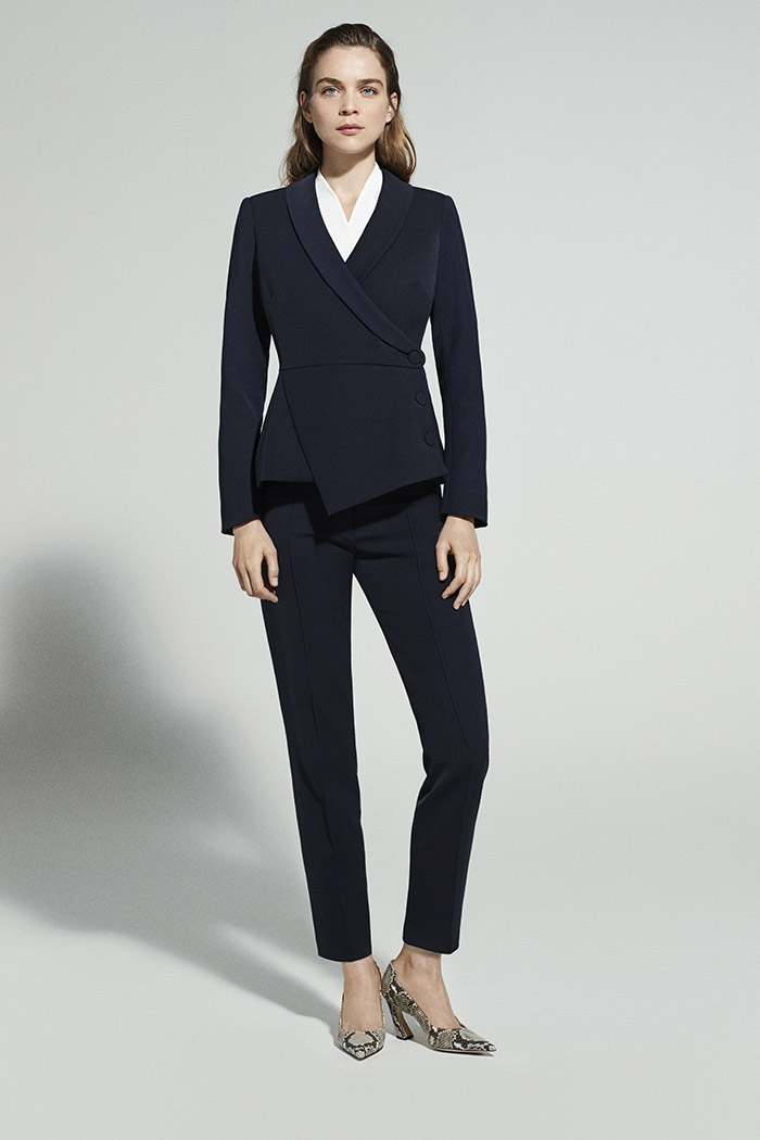 EC1 Asymmetric Jacket Navy