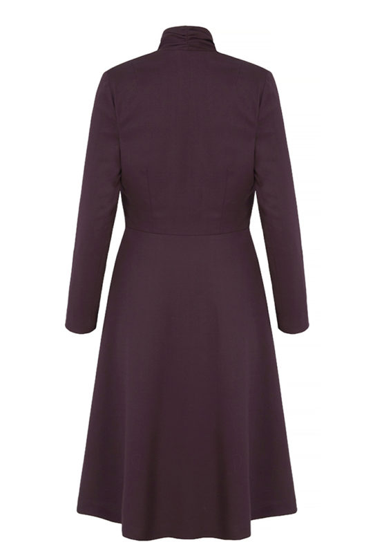 Hampton Dress Plum Wool Crepe 3