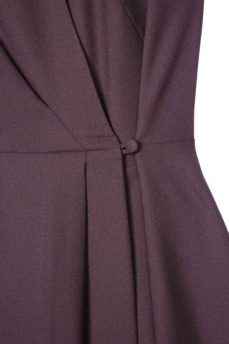 Hampton Dress Plum Wool Crepe 4