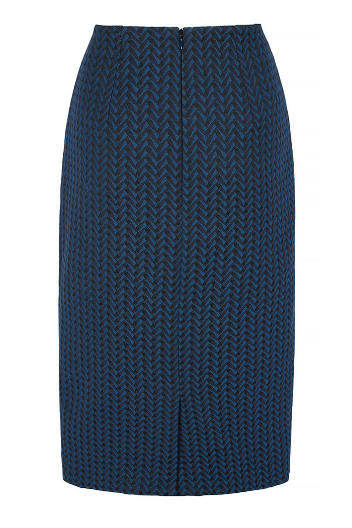 Hartley Skirt Indigo Jacquard 3