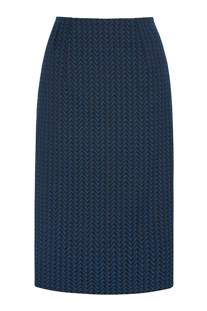 Hartley Skirt Indigo Jacquard