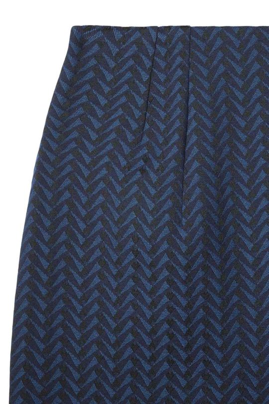 Hartley Skirt Indigo Jacquard 4