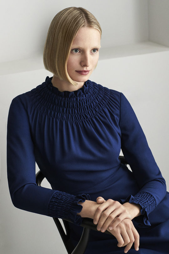 Highclere Dress Indigo Wool Crepe 5