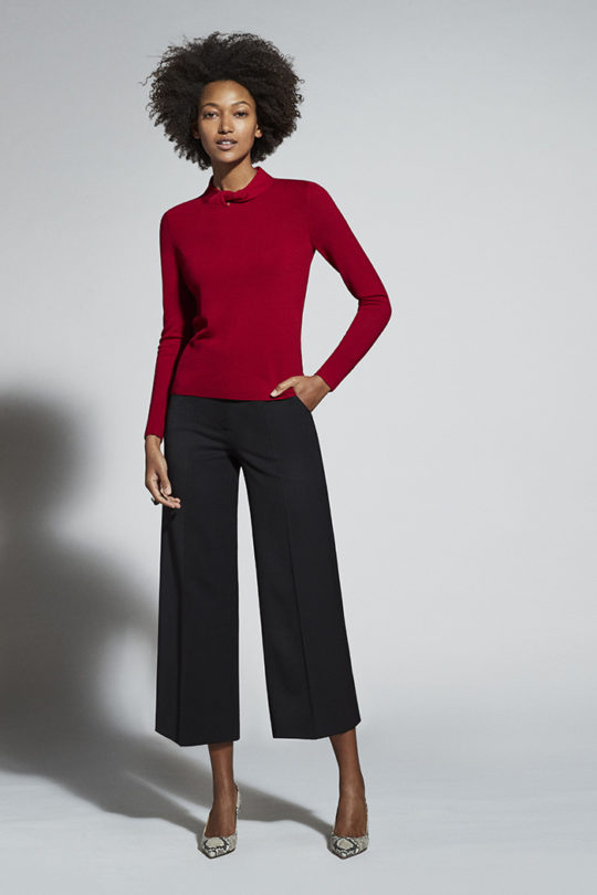 Kenwood Jumper Red Extra-Fine Merino Wool