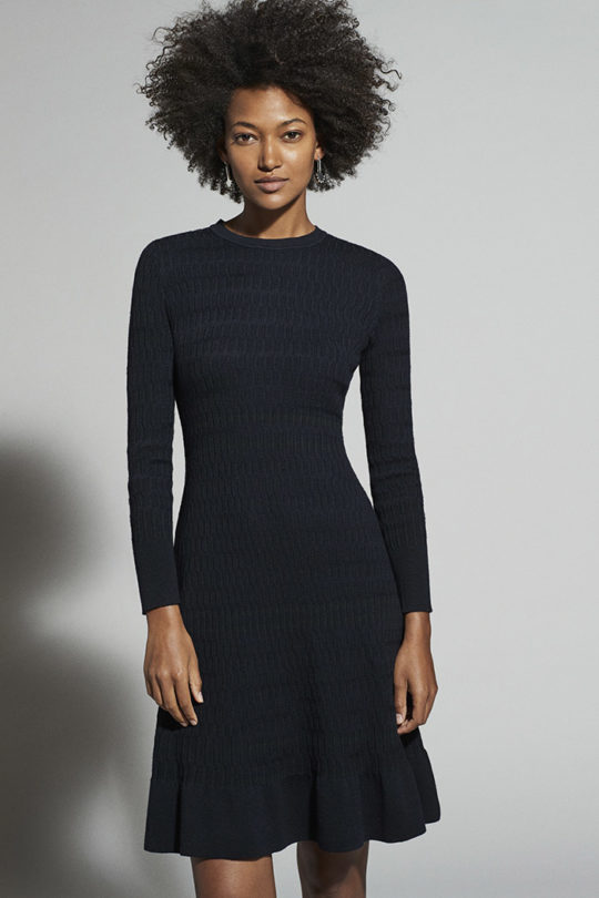 Knightly Dress Navy Merino 1