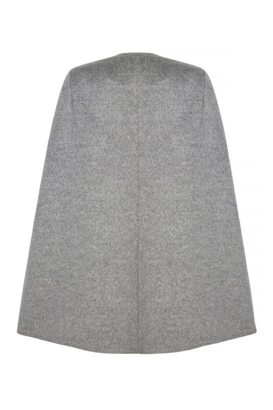 Porchester Cape Pewter Grey Wool 3