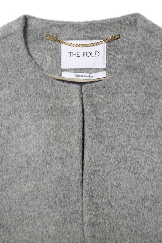 Porchester Cape Pewter Grey Wool 4