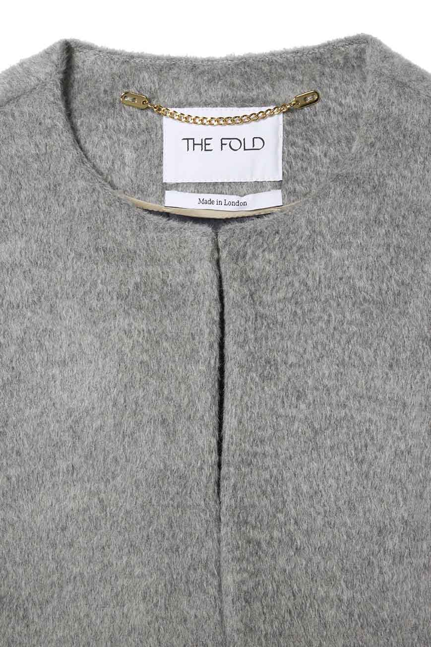 Porchester Cape Pewter Grey Wool
