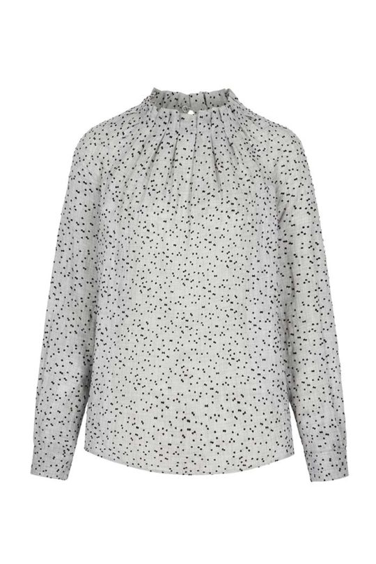 Charfield Blouse Grey Dotty Viscose