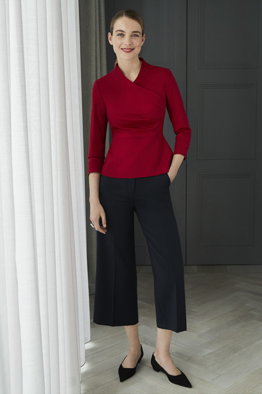Lendal Top Garnet Red Crepe