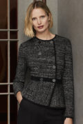 Ashmore Jacket Black And Ivory Knitted Tweed