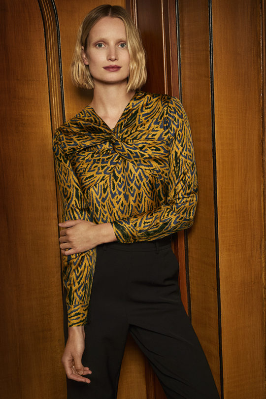 Swanfield Blouse Tuscany Gold Silk