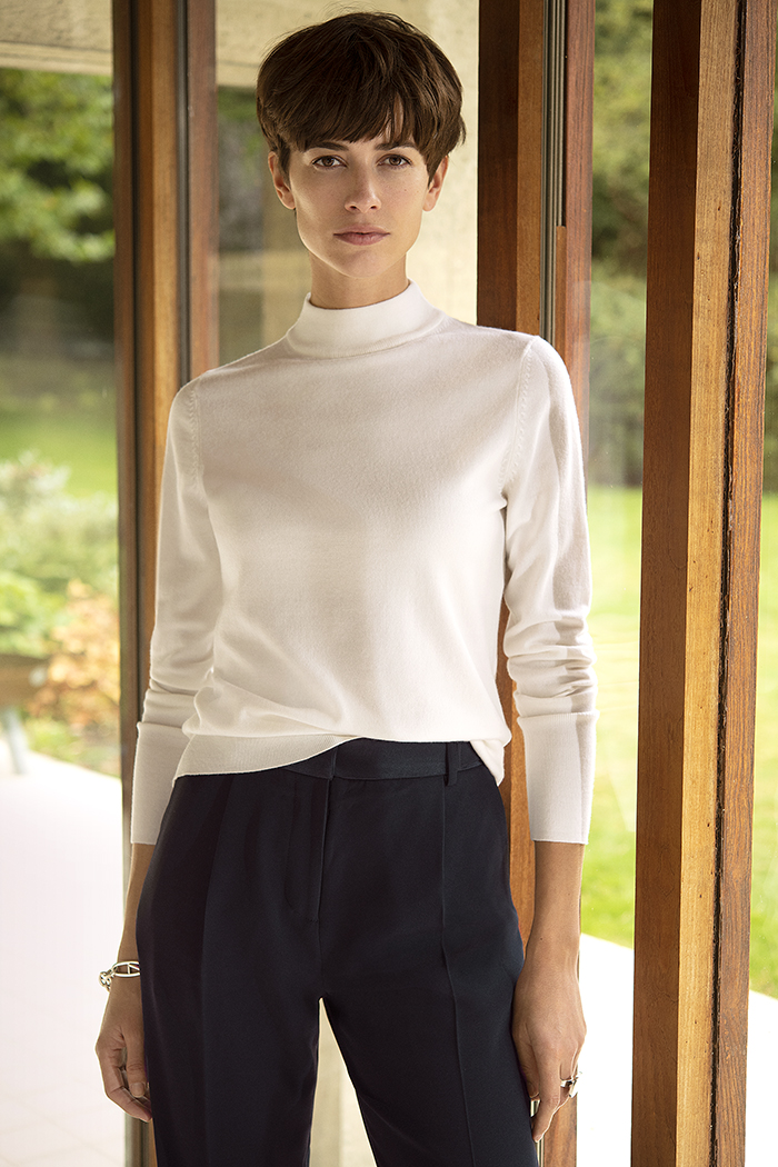 Lille High Neck Sweater Ivory 4