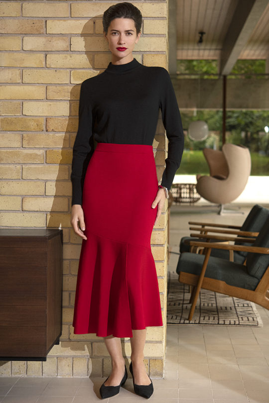 Paris Skirt Ruby Red 1