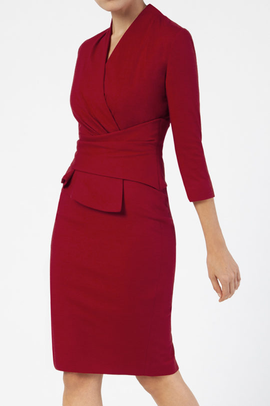 Arlington Dress Red Wool Jersey