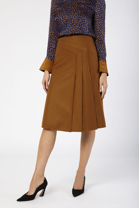 Emsworth Skirt Toffee Wool