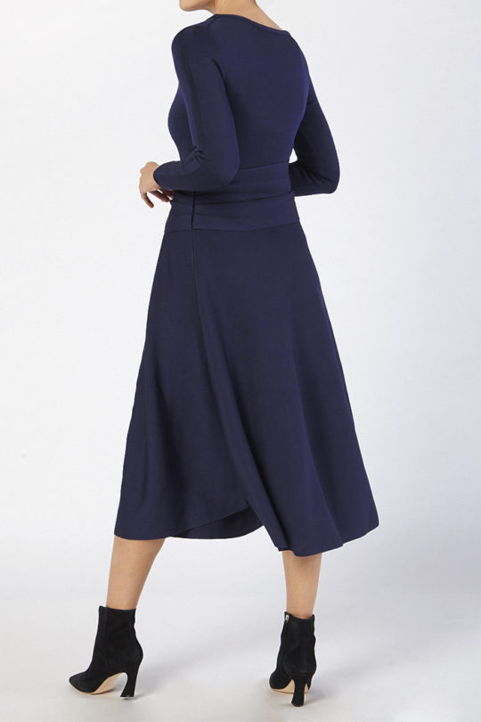 Knitted Camelot Dress Indigo Blue Viscose 2