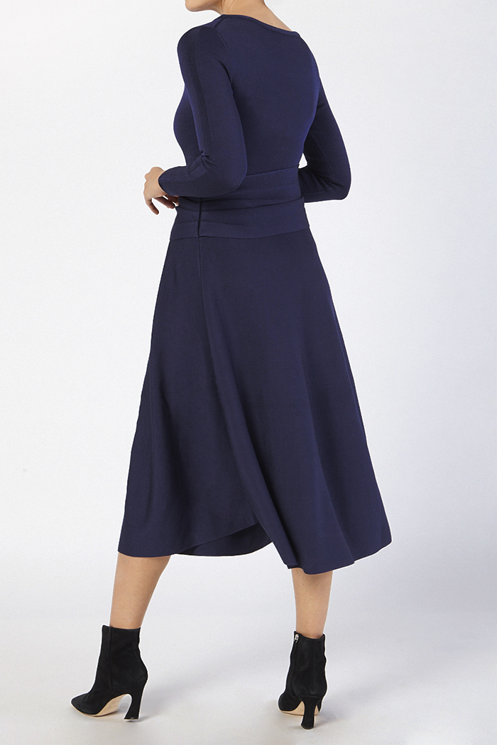 Knitted Camelot Dress Indigo Blue Viscose