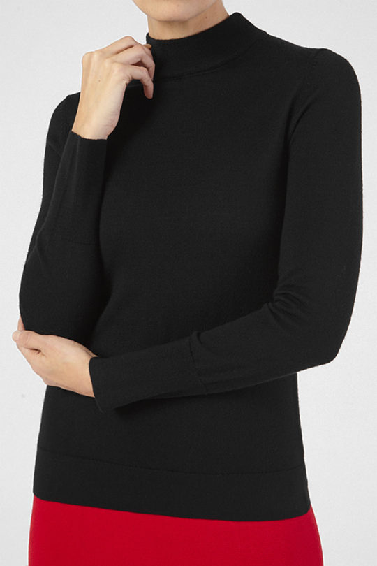 Lille High Neck Sweater Black