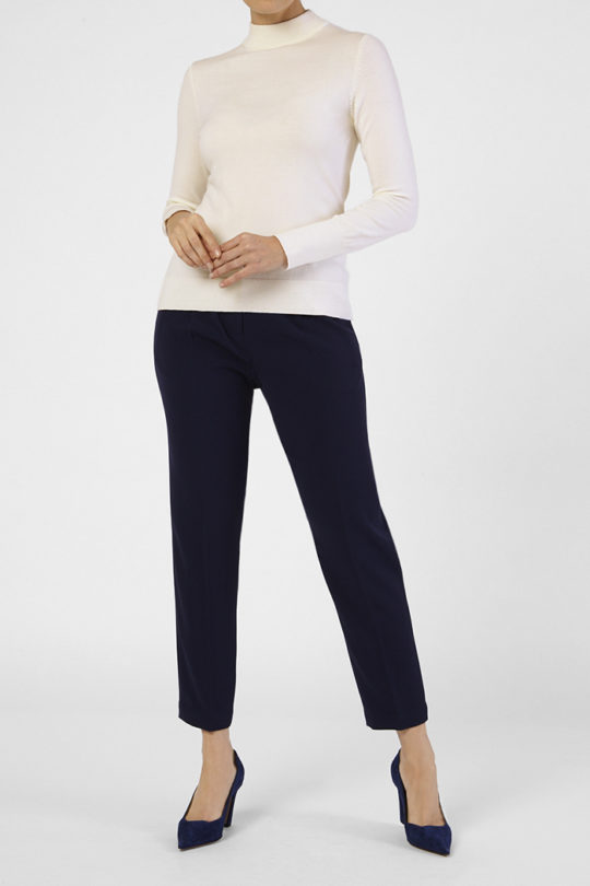 Lille High Neck Sweater Ivory 2