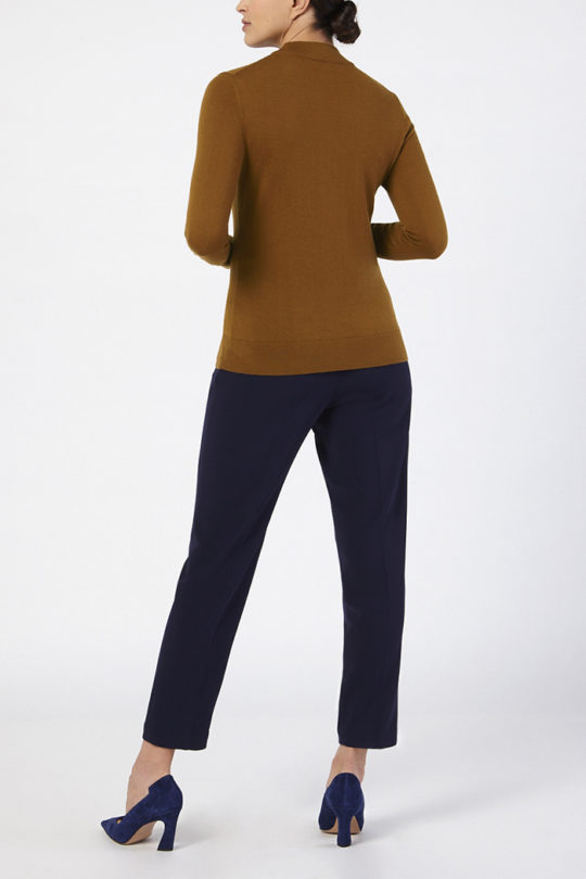 Lille High Neck Sweater Toffee 2