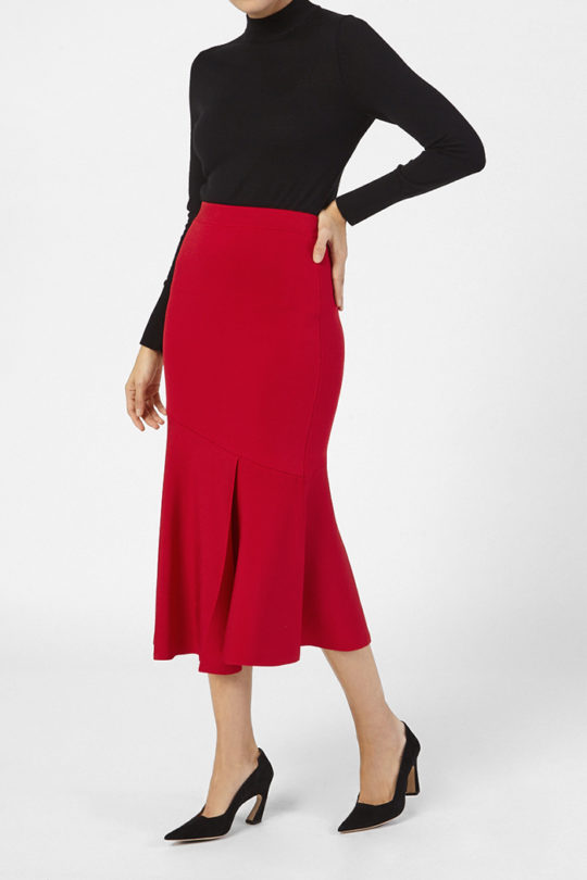 Paris Skirt Ruby Red 2