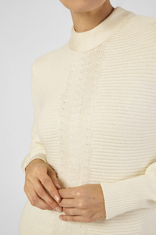 Seine Sweater Ecru Cable Knit