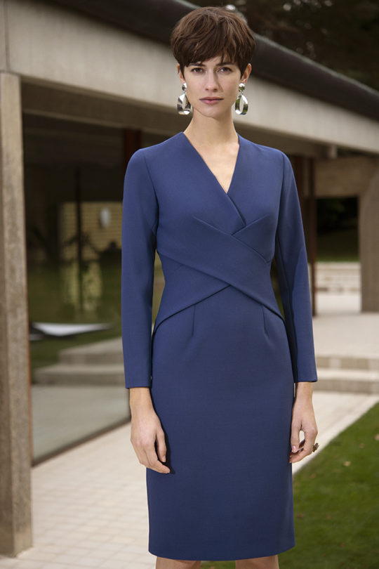 Gracefield Dress Blue Wool