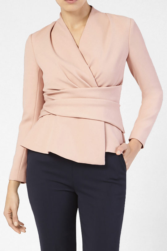 Belleville Top Blush Pink Crepe