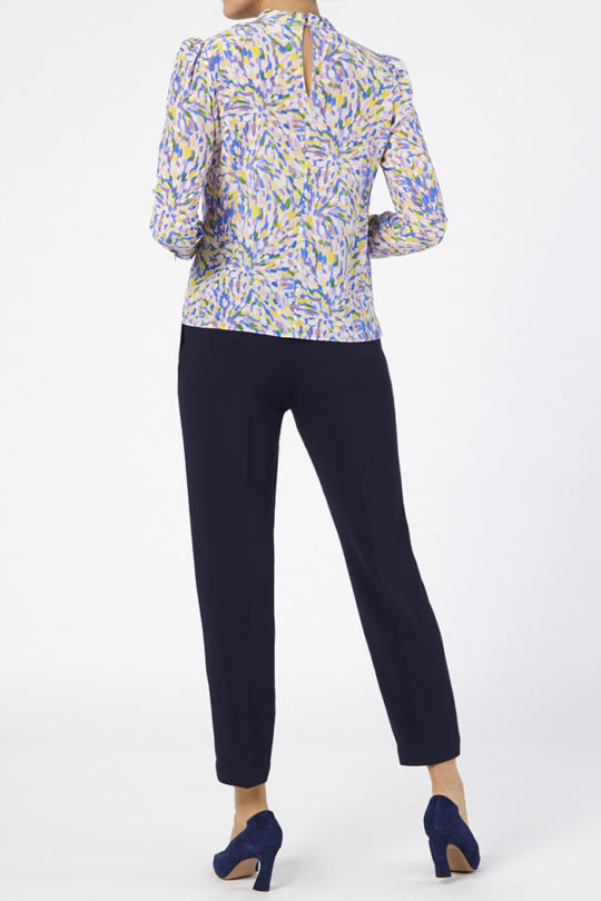 Eastleigh Blouse Multicoloured Silk 4
