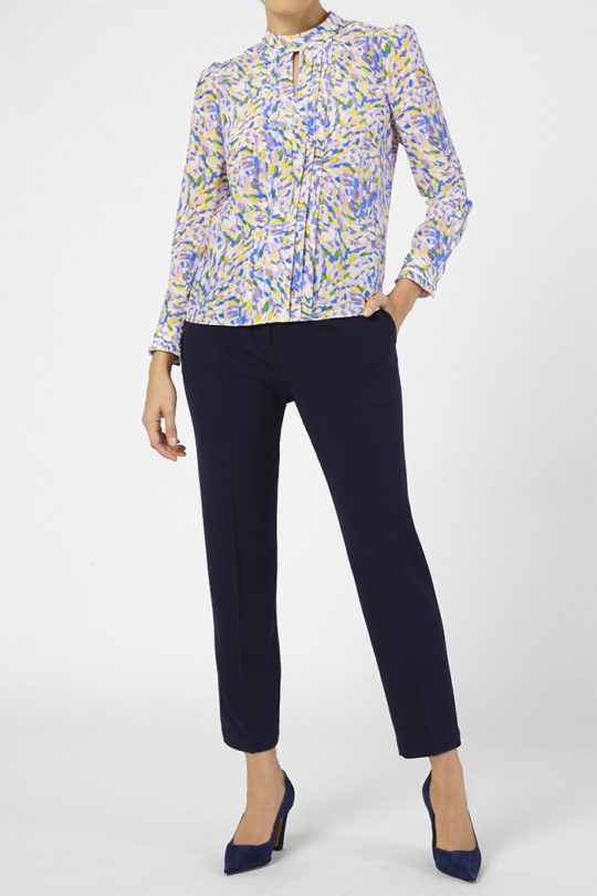 Eastleigh Blouse Multicoloured Silk 3