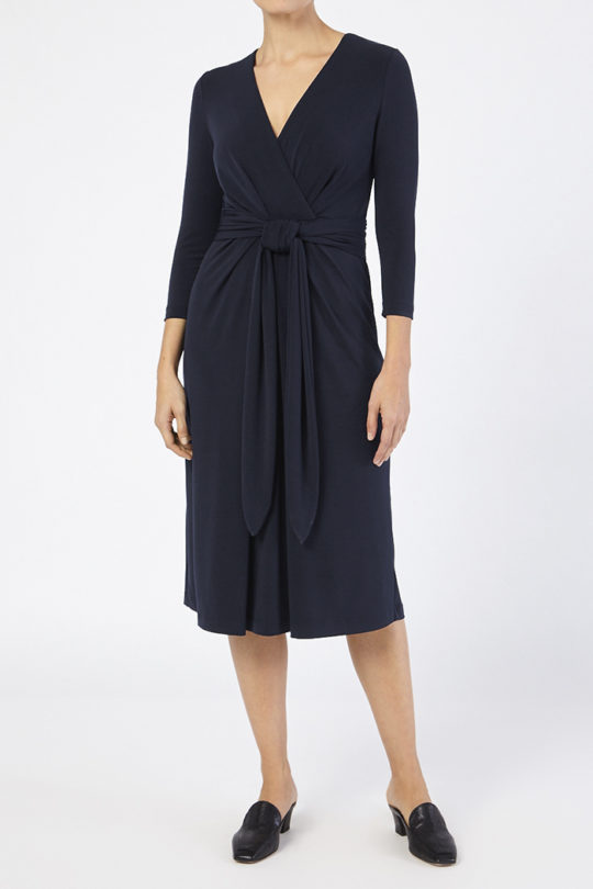 Keyes Dress Navy Jersey