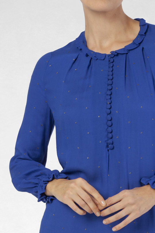 Tierney Blouse Blue Viscose