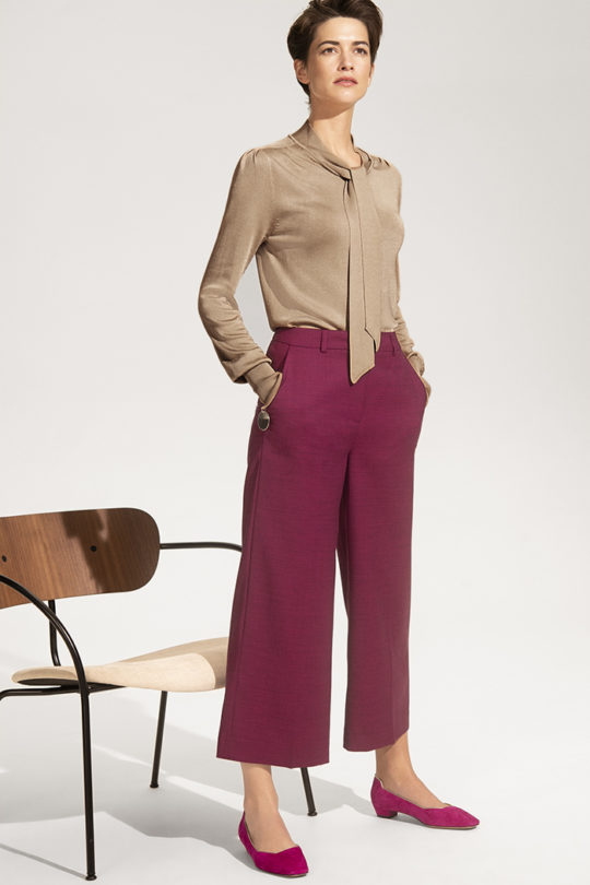 Delvino Culottes Mulberry Tweed