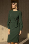 Dulwich Dress Dark Green Crepe