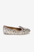 Catania Flat Snake-Embossed Leather