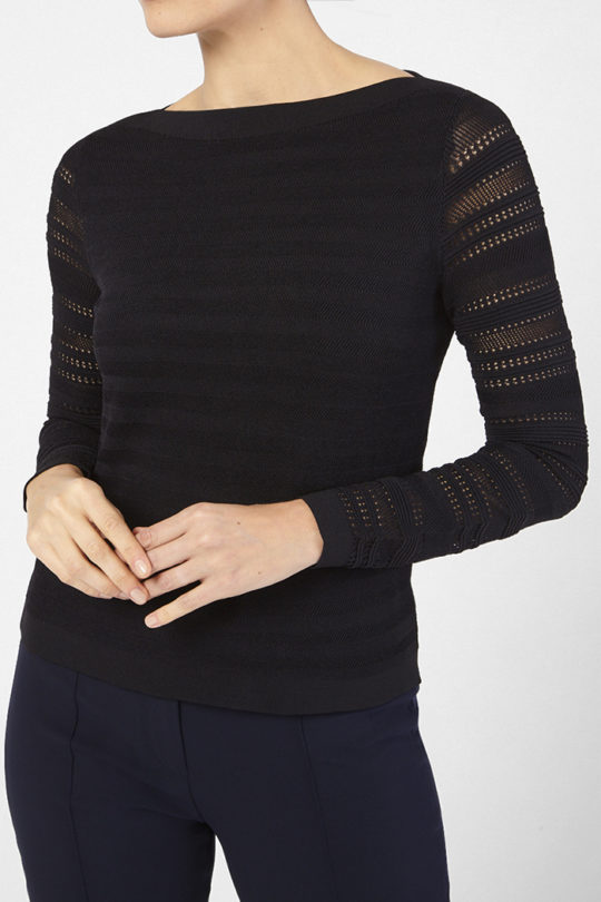Chatillon Knit Top Black Viscose