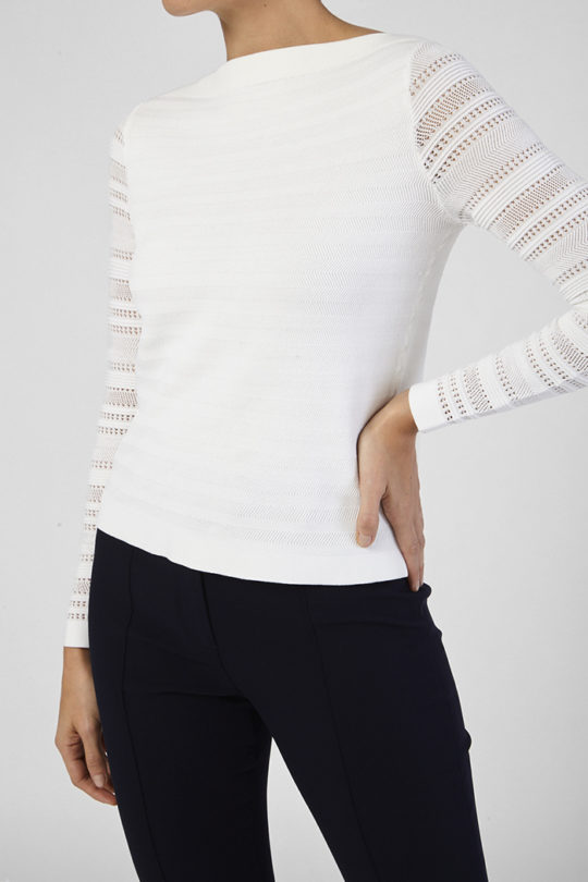 Chatillon Knit Top Ivory Viscose