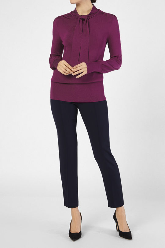 Emilion Knit Top Magenta Viscose 3