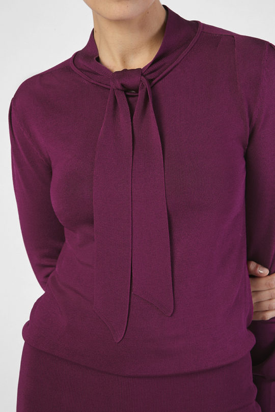 Emilion Knit Top Magenta Viscose