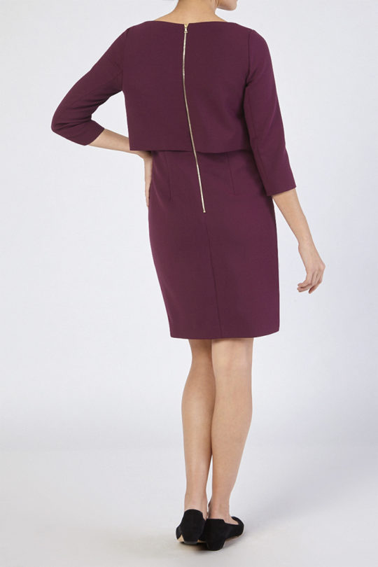 Northcote Dress Dark Magenta Wool 4