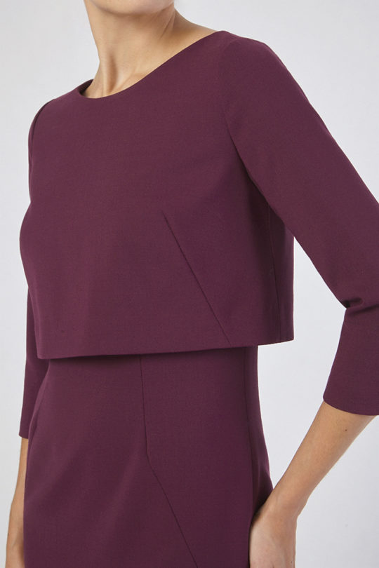 Northcote Dress Dark Magenta Wool 2