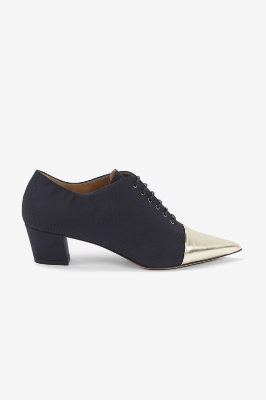 Sorrento 45 Lace Up Navy Grosgrain 1