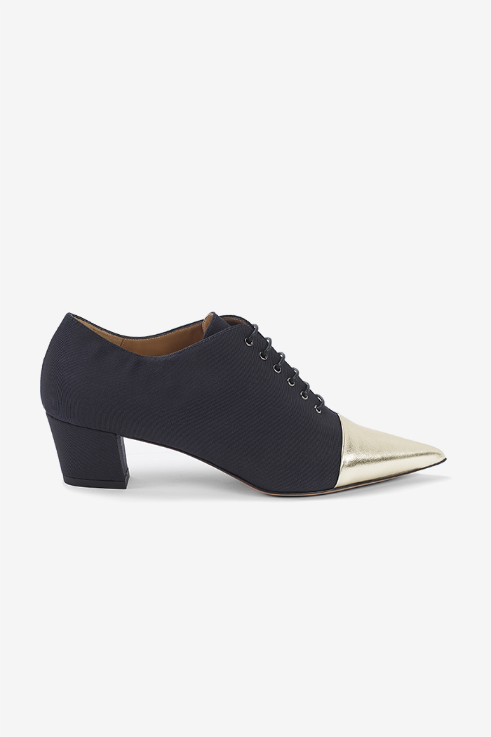 Sorrento 45 Lace Up Navy Grosgrain