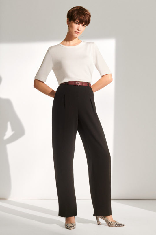 Le Marais High Waisted Wide Leg Trousers Black