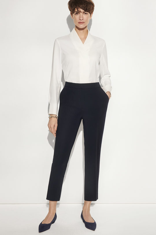 Le Marais Cigarette Trousers Navy