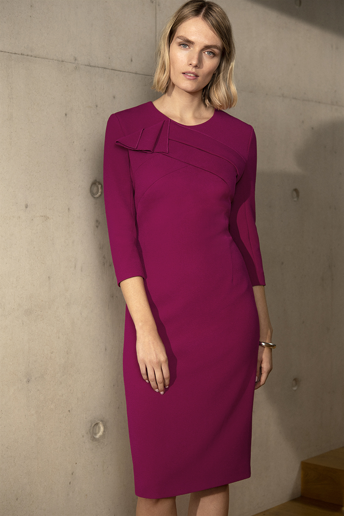 Kenley Dress Magenta Crepe