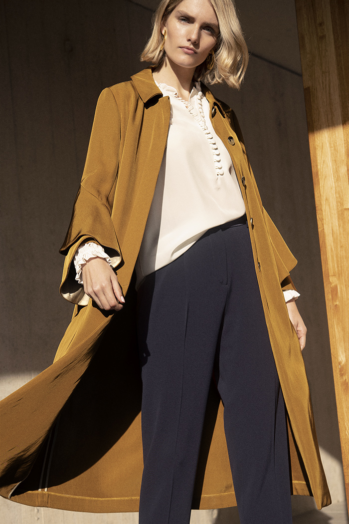 Napier Trench Camel Twill