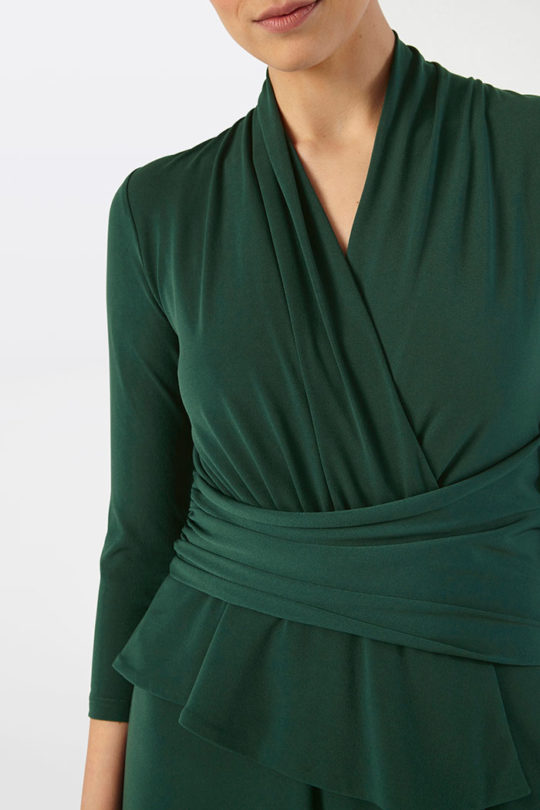 Arlington A-Line Midi Dress Green Jersey